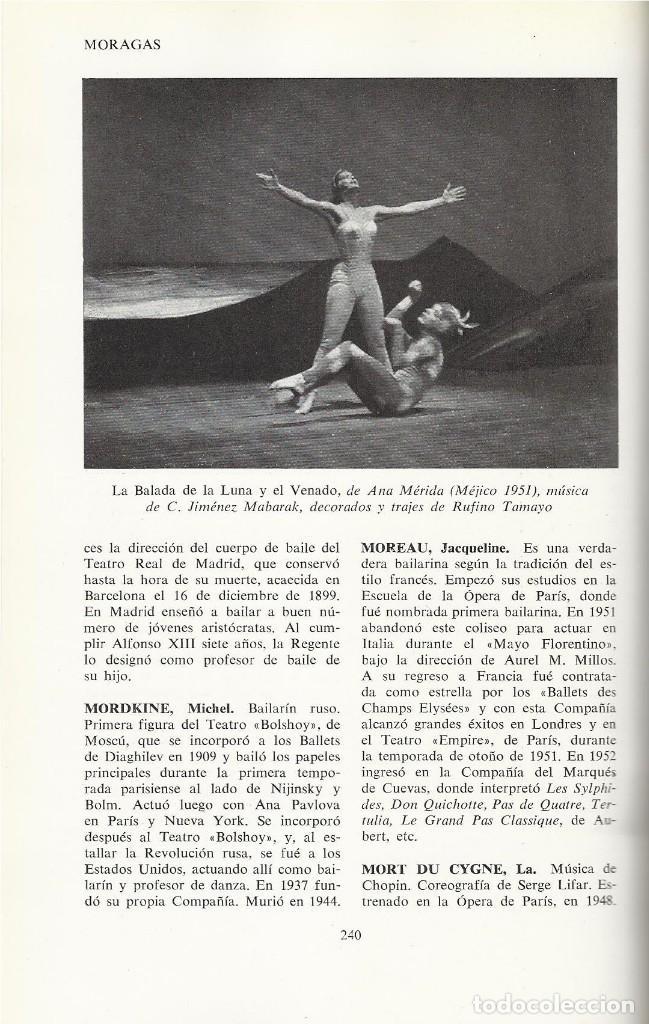 Libros de segunda mano: DICCIONARIO DEL BALLET Y DE LA DANZA, Sebastián Gasch (dir) - Foto 3 - 113720747
