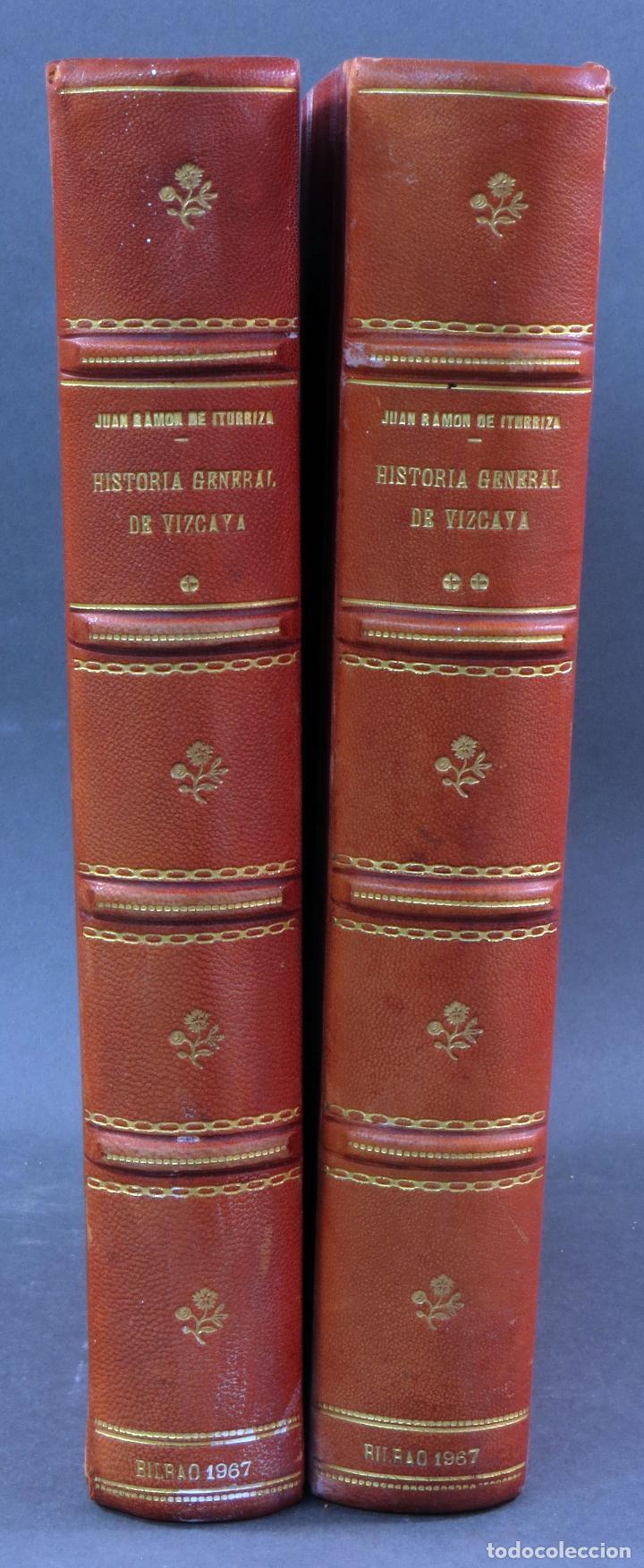 HISTORIA GENERAL DE VIZCAYA EPITOME ENCARTACIONES JUAN RAMÓN ITURRIZA Y ZÁBALA FUENTES 2 TOMOS 1967 (Libros de Segunda Mano - Historia - Otros)