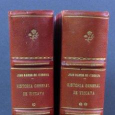 Libros de segunda mano: HISTORIA GENERAL DE VIZCAYA EPITOME ENCARTACIONES JUAN RAMÓN ITURRIZA Y ZÁBALA FUENTES 2 TOMOS 1967. Lote 113821103