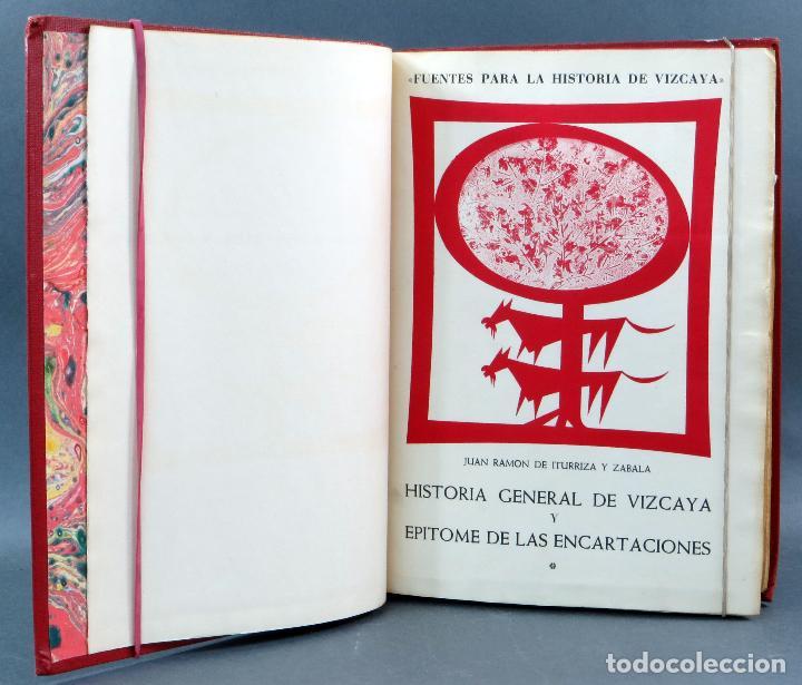Libros de segunda mano: Historia General de Vizcaya Epitome Encartaciones Juan Ramón Iturriza y Zábala Fuentes 2 tomos 1967 - Foto 3 - 113821103