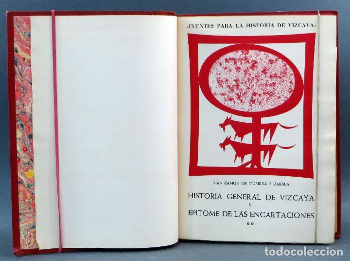 Libros de segunda mano: Historia General de Vizcaya Epitome Encartaciones Juan Ramón Iturriza y Zábala Fuentes 2 tomos 1967 - Foto 6 - 113821103