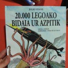 Libros de segunda mano: LIBRO EN EUSKERA TAPA DURA 20000 LEGUAS DE VIAJE SUBMARINO . Lote 114371311