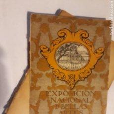 Libros de segunda mano: LIBROS BELLAS ARTES - CATÁLOGO EXPOSICIÓN NACIONAL DE BELLAS ARTES 1924. Lote 114395718