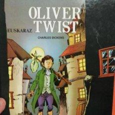 Libros de segunda mano: LIBRO EN EUSKERA TAPA DURA OLIVER TWIST . Lote 114450251