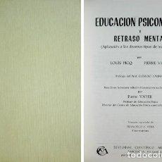 Libros de segunda mano: EDUCACIÓN PSICOMOTRIZ Y RETRASO MENTAL. APLICACIÓN A LOS DIVERSOS TIPOS DE INADAPTACIÓN. 1969.. Lote 114518287