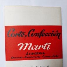 Libros de segunda mano: LIBROS PATRONAJE MODA - CORTE Y CONFECCIÓN MARTÍ LENCERÍA SECCIÓN FEMENINA. Lote 114536544
