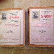 Libros de segunda mano: TE PERDONO (MEMORIAS DE UN ESPÍRITU) AMALIA DOMINGO SOLER TOMO PRIMERO + TOMO SEGUNDO. Lote 114538614
