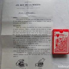 Libros de segunda mano: LIBRERIA GHOTICA. JUEGO DE MAGIA: BARAJA RADIO. EL REY DE LA MAGIA. 1980. INSTRUCCIONES Y BARAJA. Lote 114562919