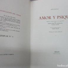 Libros de segunda mano: AMOR Y PSIQUE. APULEYO. 1946. ED. DE 25 EJEMPLARES CON DIBUJO ORIGINAL DE PEDRO PRUNA.. Lote 114797879