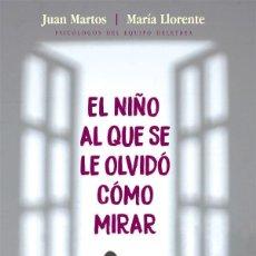 Libros de segunda mano: EL NIÑO AL QUE SE LE OLVIDÓ CÓMO MIRAR. COMPRENDER Y AFRONTAR EL AUTISMO.JUAN MARTOS MARÍA LLORENTE. Lote 114930511