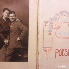 Libros de segunda mano: 1919 RARO LIBRO MANUSCRITO LITERARIO CON FOTO MILITAR BERLIN DIVESAS FIRMAS. Lote 53280613