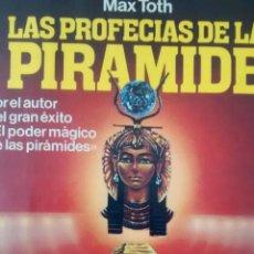 Libros de segunda mano: LAS PROFECÍAS DE LA PIRÁMIDE DE MAX TOTH (MARTÍNEZ ROCA). Lote 114907155