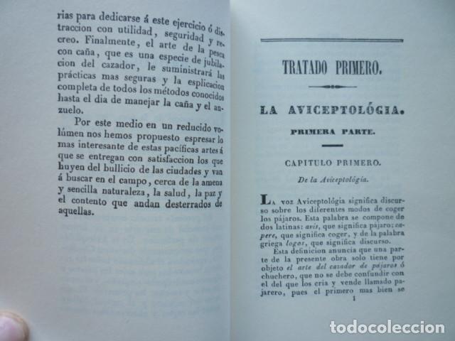 Libros de segunda mano: LA AVICEPTOLÓGIA O MANUAL COMPLETO DE CAZA Y PESCA - Jose Maria Tenorio - EDICION FACSIMIL OVIEDO 20 - Foto 3 - 115096599