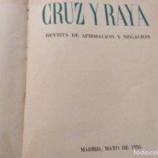 Libros de segunda mano: EDICIONES DEL ÁRBOL CRUZ Y RAYA 1935..NÚMERO VISADO POR LA CENSURA. Lote 115141915