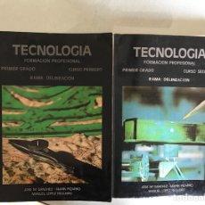 Libros de segunda mano: TECNOLOGÍA. DELINEACIÓN. I Y II. Lote 115152847