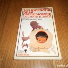 Libros de segunda mano: LOS ASESINATOS DE LA CALLE MORGUE / LA CARTA ROBADA 1984 MUY RARO !!!. Lote 115329251