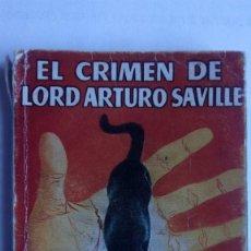 Libros de segunda mano: EL CRIMEN DE LORD ARTURO SAVILLE, COLECCION PULGA, Nº 185. Lote 115412643
