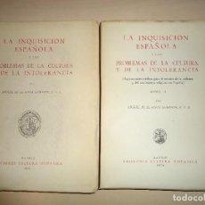 Libros de segunda mano: LA INQUISICION ESPAÑOLA Y LOS PROBLEMAS DE LA CULTURA Y DE LA INTOLERANCIA. Lote 115412887