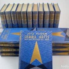 Libros de segunda mano: L-4720 SUMMA ARTIS. HISTORIA GENERAL DEL ARTE. JOSE PIJOAN. 18 TOMOS SEGUIDOS (I A XVIII). PERFECTOS. Lote 115471211