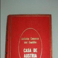 Libros de segunda mano: CASA DE AUSTRIA. ANTONIO CANOVAS DEL CASTILLO. TAPA DURA, 310 PAGINAS. Lote 115477751