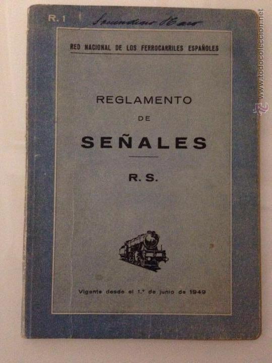 REGLAMENTO SEÑALES FERROVIARIAS 1949 (Libros de Segunda Mano - Bellas artes, ocio y coleccionismo - Otros)