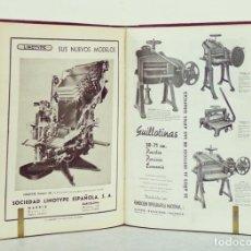 Libros de segunda mano: GRÁFICAS 1944-1951 REVISTA DE LAS TÉCNICAS DEL LIBRO. 36 NÚMS. ENCUADERNADOS EN 2 TOMOS [TIPOGRAFÍA]. Lote 115595130