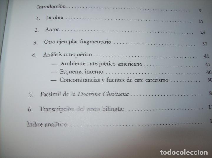 Libros de segunda mano: DOCTRINA CRISTIANA MUY ÚTIL Y NECESARIA.MÉXICO 1578. FRANCISCO DE PAREJA. 1ª EDICIÓN 1990. SALAMANCA - Foto 3 - 115663867