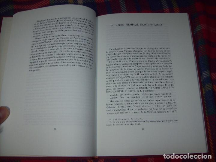 Libros de segunda mano: DOCTRINA CRISTIANA MUY ÚTIL Y NECESARIA.MÉXICO 1578. FRANCISCO DE PAREJA. 1ª EDICIÓN 1990. SALAMANCA - Foto 5 - 115663867