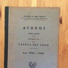 Libros de segunda mano: AFOROS RIOS CUENCA EBRO 1932 42 MINISTERIO OBRAS PÚBLICAS CINCA SEGRE GUATIZALEMA LINARES TIRON. Lote 115691302