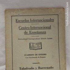 Libros de segunda mano: CUADERNO DE ESTUDIO, TALADRO Y BARRENADO PARTE 3, CEDECO, 1949, MADRID. Lote 115816815