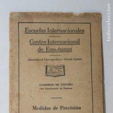 Libros de segunda mano: CUADERNO DE ESTUDIO, MEDIDAS DE PRECISION, CEDECO, 1949, MADRID. Lote 115819151