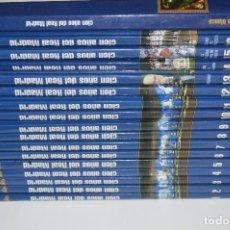 Libros de segunda mano: COLECCIÓN COMPLETA LIBROS CIEN 100 AÑOS DEL REAL MADRID 16 TOMOS ÁLBUM SELLOS DE ORO BAÑO 24 KILATES. Lote 115847279