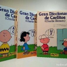 Libros de segunda mano: GRAN DICCIONARIO DE CARLITOS ESPAÑOL-INGLÉS. 3 VOLS. OBRA COMPLETA. BROWN, CHARLIE. ISBN 8474196620.. Lote 115914939