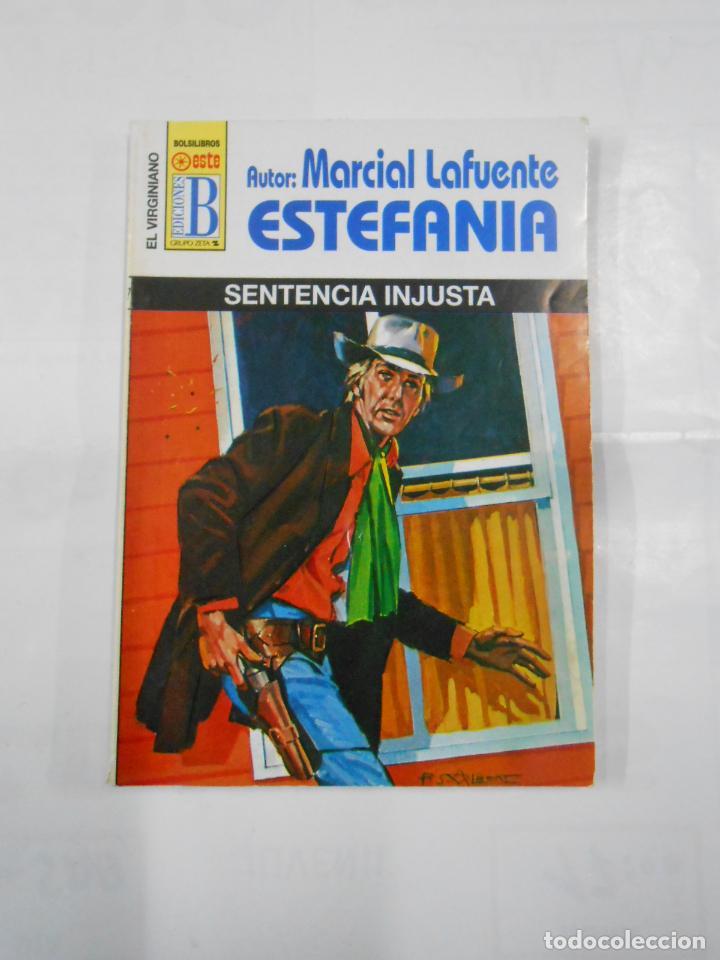 MARCIAL LAFUENTE ESTEFANIA Nº 1077. SENTENCIA INJUSTA. SERIE COLECCION EL VIRGINIANO. TDK309 (Libros de Segunda Mano (posteriores a 1936) - Literatura - Otros)