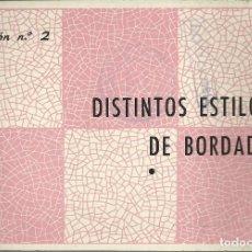 Libros de segunda mano: DISTINTOS ESTILOS DE BORDADOS. Lote 115980095
