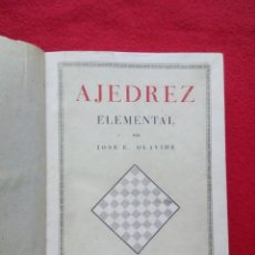 Libros de segunda mano: TUBAL AJEDREZ ELEMENTAL OLAVIDE 1947 ENCUADERNACION PIEL NERVIOS 22 CM 800 GRS. Lote 116067119
