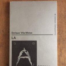Libros de segunda mano: ENRIQUE VILA-MATAS. LA ASESINA ILUSTRADA. TUSQUETS ED., CUADERNOS INFIMOS 80. PRIMERA EDICIÓN, 1977.. Lote 116093174
