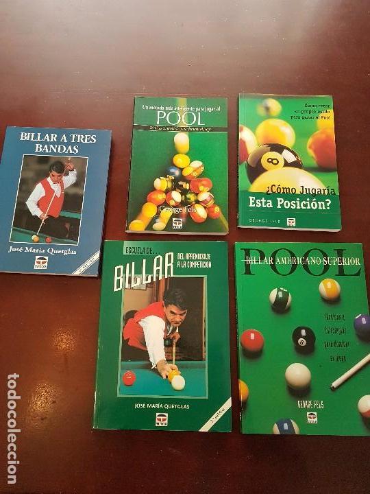 COLECCIÓN LIBRO DE BILLAR POOL (Libros de Segunda Mano - Bellas artes, ocio y coleccionismo - Otros)