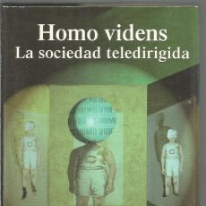 Libros de segunda mano: GIOVANNI SARTORI. HOMO VIDENS LA SOCIEDAD TELEDIRIGIDA. TAURUS. Lote 116191671