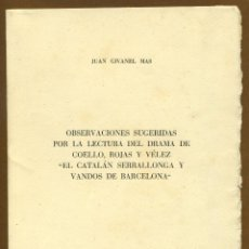 Libros de segunda mano: EL CATALAN SERRALLONGA Y VANDOS DE BARCELONA - JUAN GIVANEL MAS. Lote 116204887