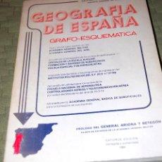 Libros de segunda mano: GEOGRAFÍA DE ESPAÑA GRAFO-ESQUEMÁTICA. TEXTO OFICIAL PARA INGRESO DIFERENTES ACADEMIAS MILITARES.. Lote 116301751