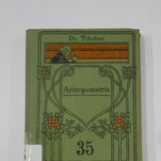 Libros de segunda mano: ANTROPOMETRÍA. TELESFORO DE ARANZADI. MANUALES GALLACH Nº 35. TDK108. Lote 116441803