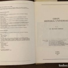 Libros de segunda mano: EL MUNDO GRIEGO. MANUAL DE HISTORIA UNIVERSAL(28€). Lote 116489911