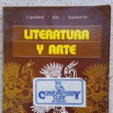 Libros de segunda mano: LITERATURA Y ARTE INTERMEDIATE SPANISH COPELAND UNIVERSIDAD DE COLORADO 1985 CON VOCABULARIO INGLÉS. Lote 116533266