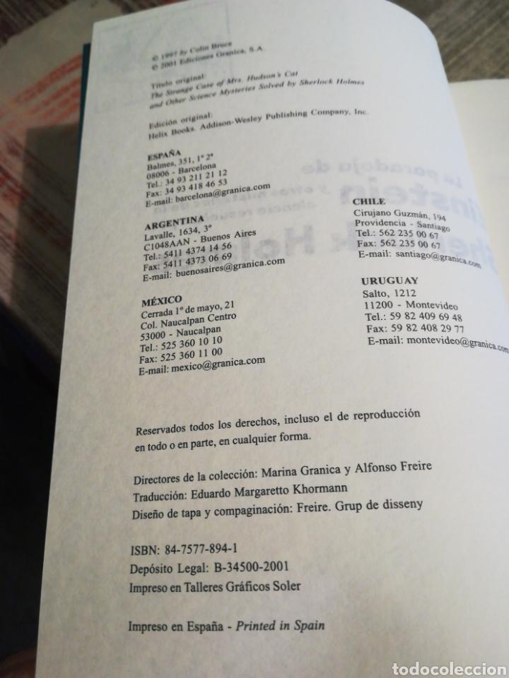 Libros de segunda mano: La paradoja de Einstein y otros misterios de la ciencia resueltos por Sherlock Holmes - Colin Bruce - Foto 8 - 116541643