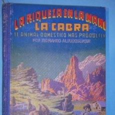 Libros de segunda mano: LA RIQUEZA EN LA MANO. LA CABRA - FERNANDO ALBURQUERQUE - EDITORIAL HERNANDO, 1946 (MUY BUEN ESTADO). Lote 116551675