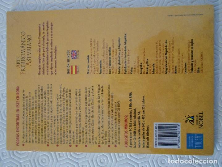 Libros de segunda mano: ARTE PRERROMANICO ASTURIANO. CD-ROM. NUEVO A ESTRENAR. EDICIONES NOBEL. - Foto 2 - 116624759