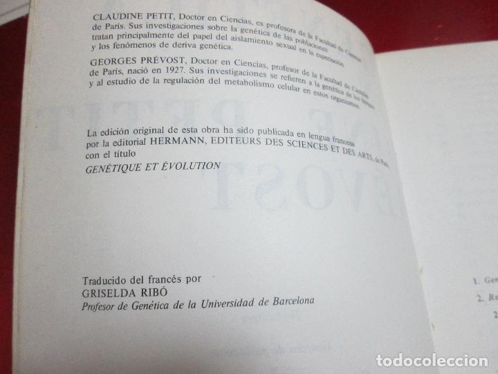 Libros de segunda mano: libro-genética y evolución-c.petit-g.prevost-1976-4ªedición-muy buen estado-ver fotos - Foto 9 - 116873011