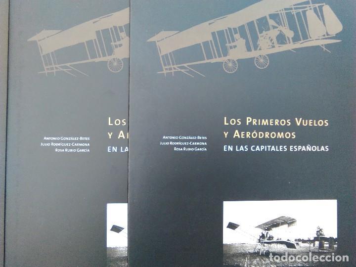 Libros de segunda mano: ANTIGUO LIBRO LOS PRIMEROS VUELOS Y AERÓDROMOS EN LAS CAPITALES ESPAÑOLAS - MUCHÍSIMAS FOTOGRAFÍAS - Foto 3 - 116958591