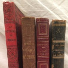 Libros de segunda mano: COLECCIÓN CUATRO LIBROS, AVENTURAS TRES ISIGLO XIX LA BAHIA DE HUDSON , LA RAMÉE,( AVENTURAS ),, L. Lote 117012699